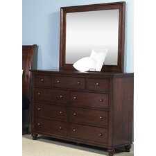 Garrick 9 Drawer Dresser with Mirror by Darby Home Co®