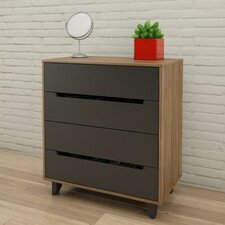 Aristocles 4 Drawer Chest by Mercury Row®