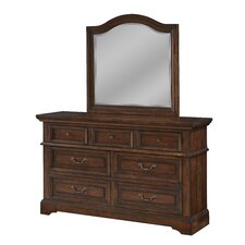 Kennison 7 Drawer Dresser with Mirror by Darby Home Co®