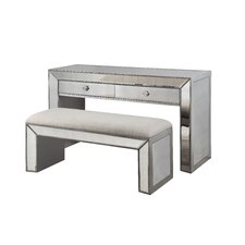 2 Piece Console Table Set by BestMasterFurniture