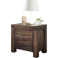 Rio Dell 2 Drawer Nightstand by Loon Peak®