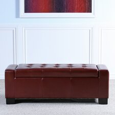Old York Leather Storage Entryway Bench by Red Barrel Studio®