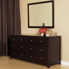 6 Drawer Double Dresser with Mirror by Latitude Run