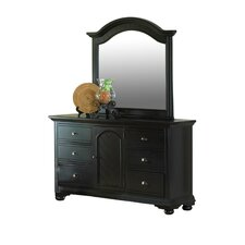 Corbel 6 Drawer Combo Dresser and Mirror Set by Bay Isle Home
