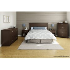 Fusion Queen Platform Customizable Bedroom Set by South Shore