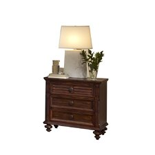 Compass Rose 3 Drawer Nightstand by Fairfax Home Collections