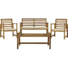 Caffee 4 Piece Bench Seating Group with Cushions