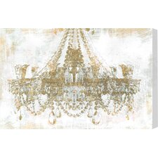 'Gold Diamonds Faded' Graphic Art on Wrapped Canvas
