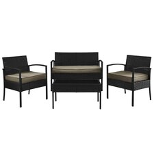 Wendell 4 Piece Seating Group with Cushion by Charlton Home®