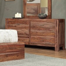 Atria 6 Drawer Dresser with Mirror by Modus Furniture