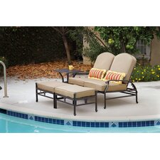 Fairmont Loveseat and Double Ottoman Set Frame by Astoria Grand