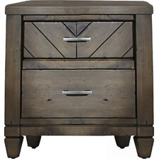 Modern Country 2 Drawer Nightstand by Liberty Furniture
