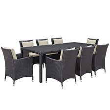 Convene 9 Piece Outdoor Patio Dining Set with Cushions by Modway