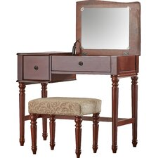 Champney Vanity Set with Mirror by Rosalind Wheeler