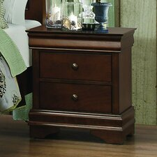 Abbeville 2 Drawer Nightstand by Homelegance