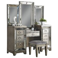 Lenox Vanity with Mirror by Avalon Furniture