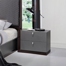Sorrento 2 Drawer Nightstand by J&M Furniture