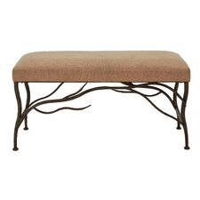 Metal/Wood and Upholstered Entryway Bench by Cole & Grey