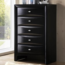 Blemerey 5 Drawer Chest by Roundhill Furniture