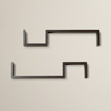 "Decorative ""S"" Shaped Wall Accent  Shelf (Set of 2)"