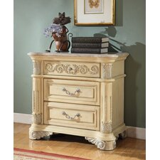 Sienna 2 Drawer Nightstand by Meridian Furniture USA
