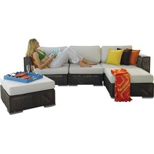 Soho 5 Piece Deep Seating Group with Cushion by Hospitality Rattan