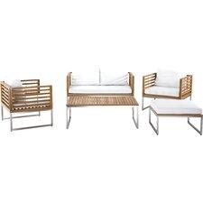 Bermuda Luxury 5 Piece Deep Seating Group with Cushions