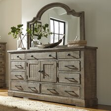 Burford 9 Drawer Combo Dresser with Mirror by August Grove®