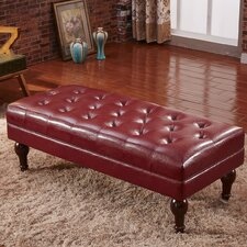 Premium Faux Leather Entryway Bench by Corzano Designs