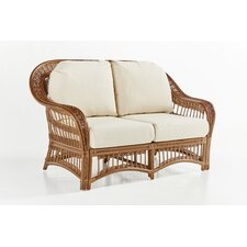 Plantation Loveseat with Cushion by South Sea Rattan