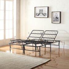 Premium Adjustable Metal Mattress Foundation/Platform Bed Frame by Madison Home USA