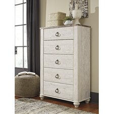 Marguerite 5 Drawer Media Chest by August Grove®