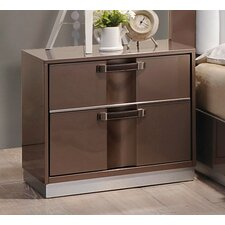 Central East 2 Drawer Nightstand by Wade Logan®