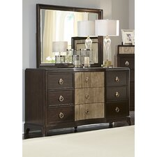 Thornton 9 Drawer Dresser with Mirror by House of Hampton