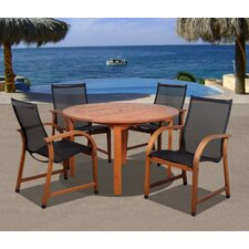 Elsmere 5 Piece Dining Set by Beachcrest Home