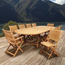Elsmere 11 Piece Dining Set by Beachcrest Home