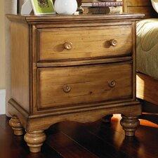Harlowton 2 Drawer Nightstand by Loon Peak®