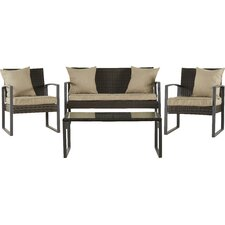 Xander 4 Piece Seating Group with Cushion by Mercury Row®