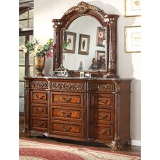 Royal 9 Drawer Dresser with Mirror by Meridian Furniture USA