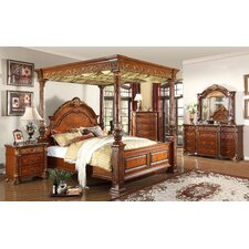 Royal Queen Canopy Customizable Bedroom Set by Meridian Furniture USA