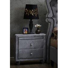 Hudson 2 Drawer Nightstand by Meridian Furniture USA