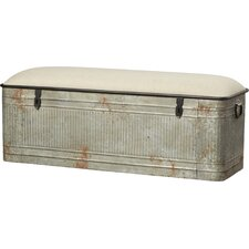 Dublin Metal Storage Bedroom Bench by August Grove®