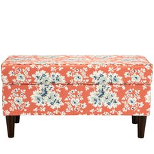 Maceo Cotton Upholstered Storage Bedroom Bench by Lark Manor