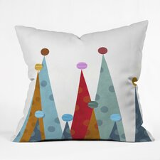 Winter Peaks Throw Pillow