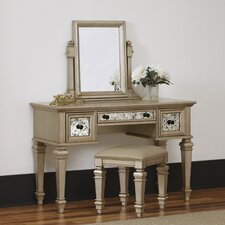 Visions Vanity Set with Mirror by Home Styles