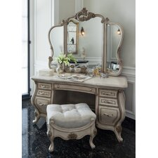 Platine De Royale Vanity with Mirror by Michael Amini