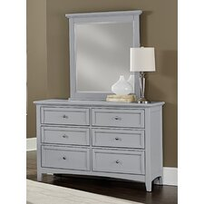 Blakney 6 Drawer Dresser with Mirror by Darby Home Co®