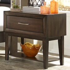 Bloomington 1 Drawer Nightstand by Three Posts