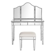 Chamberlan Contemporary Vanity with Mirror by Elegant Lighting