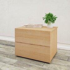 Bathford 2 Drawer Nightstand by Mercury Row®